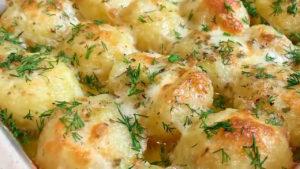 Вкусный Молодой Картофель под Сыром