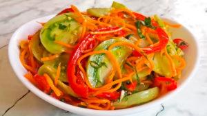 салат из зеленых помидоров по-корейски
