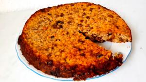 овсяный пирог с сухофруктами